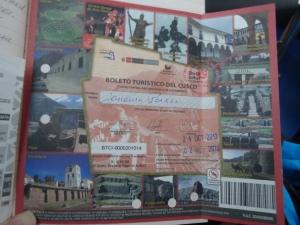 Boleto touristic with Janaina Paxer's name… my temporary identity.