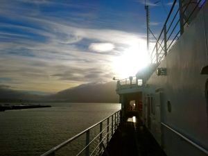 Ferry crossing Cook Strait