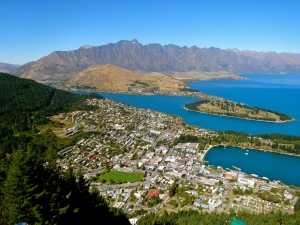 View of Queenstown from the Sky View Trail.