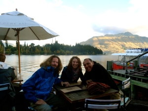 Vincent, Tato and I in Queenstown.