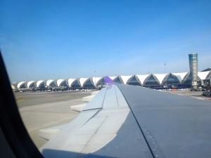 We flew from OR Tambo to Bankgkok International to Phuket International.  This is Bangkok.