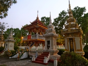 Buddhist Temple along the streets of Vientiane.