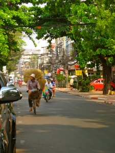 The streets of Vientiane.