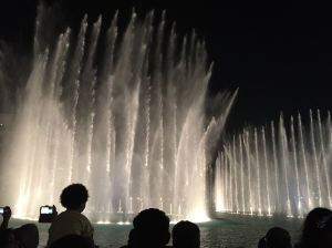 Fountain display at the Dubai Mall