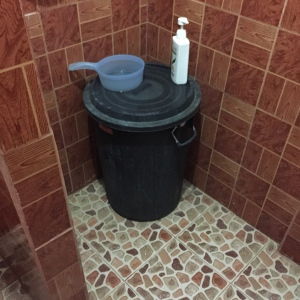 Shower Trashcan