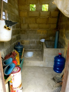 Our newly refurbished toilet / shed… we just kind of make it all work.