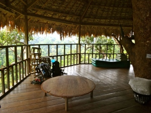 The main living area in our tree house.