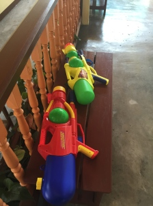 Water guns armed and ready.