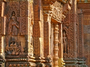 Carvings in Banteay Srei,